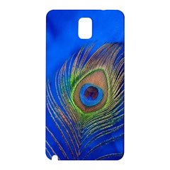 Blue Peacock Feather Samsung Galaxy Note 3 N9005 Hardshell Back Case