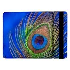 Blue Peacock Feather Samsung Galaxy Tab Pro 12.2  Flip Case