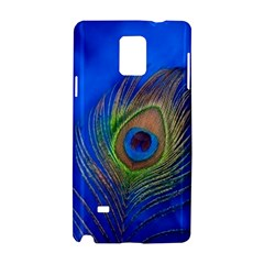 Blue Peacock Feather Samsung Galaxy Note 4 Hardshell Case