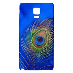 Blue Peacock Feather Galaxy Note 4 Back Case