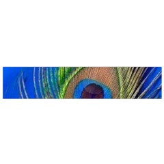 Blue Peacock Feather Flano Scarf (small)