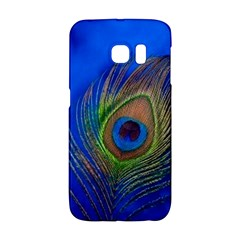 Blue Peacock Feather Galaxy S6 Edge