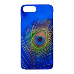 Blue Peacock Feather Apple Iphone 7 Plus Hardshell Case