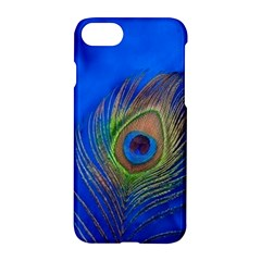 Blue Peacock Feather Apple Iphone 7 Hardshell Case