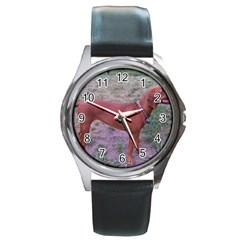 Redbone Coonhound Full Round Metal Watch