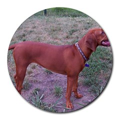 Redbone Coonhound Full Round Mousepads