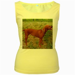Redbone Coonhound Full Women s Yellow Tank Top
