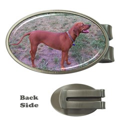 Redbone Coonhound Full Money Clips (Oval)