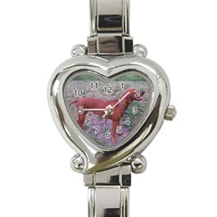 Redbone Coonhound Full Heart Italian Charm Watch