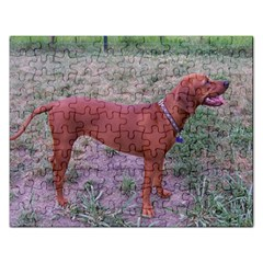 Redbone Coonhound Full Rectangular Jigsaw Puzzl