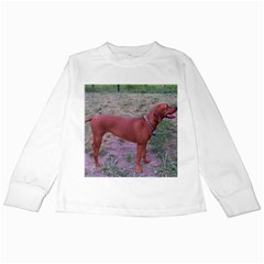 Redbone Coonhound Full Kids Long Sleeve T-Shirts