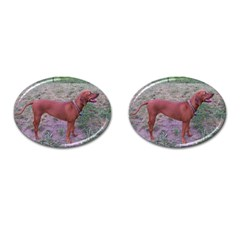 Redbone Coonhound Full Cufflinks (Oval)