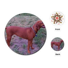 Redbone Coonhound Full Playing Cards (Round)
