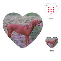 Redbone Coonhound Full Playing Cards (Heart)