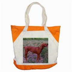 Redbone Coonhound Full Accent Tote Bag