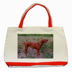 Redbone Coonhound Full Classic Tote Bag (Red)