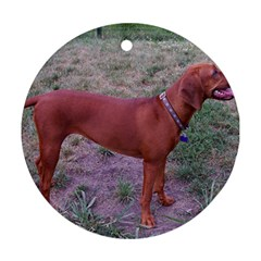 Redbone Coonhound Full Round Ornament (Two Sides)