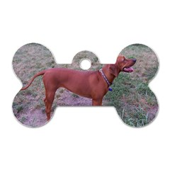 Redbone Coonhound Full Dog Tag Bone (One Side)