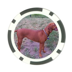 Redbone Coonhound Full Poker Chip Card Guard