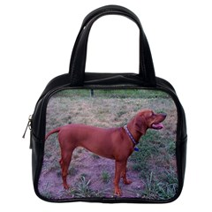 Redbone Coonhound Full Classic Handbags (One Side)