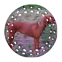 Redbone Coonhound Full Round Filigree Ornament (Two Sides)