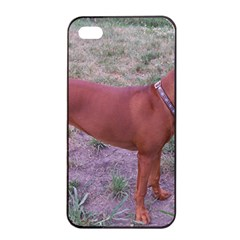 Redbone Coonhound Full Apple iPhone 4/4s Seamless Case (Black)