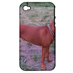 Redbone Coonhound Full Apple iPhone 4/4S Hardshell Case (PC+Silicone)