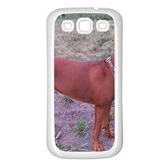 Redbone Coonhound Full Samsung Galaxy S3 Back Case (White)