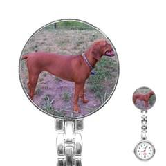Redbone Coonhound Full Stainless Steel Nurses Watch