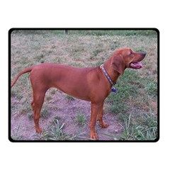 Redbone Coonhound Full Double Sided Fleece Blanket (Small)