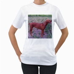 Redbone Coonhound Full Women s T-Shirt (White)