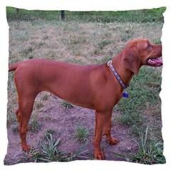 Redbone Coonhound Full Standard Flano Cushion Case (One Side)