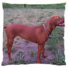 Redbone Coonhound Full Large Flano Cushion Case (Two Sides)