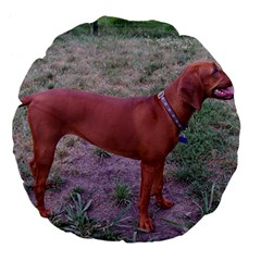 Redbone Coonhound Full Large 18  Premium Flano Round Cushions