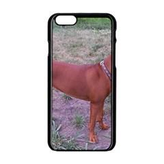 Redbone Coonhound Full Apple iPhone 6/6S Black Enamel Case