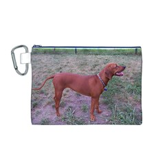 Redbone Coonhound Full Canvas Cosmetic Bag (M)