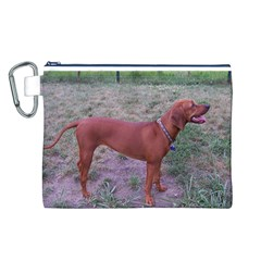 Redbone Coonhound Full Canvas Cosmetic Bag (L)