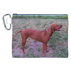 Redbone Coonhound Full Canvas Cosmetic Bag (XXL)