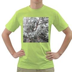 Winter Fall Trees Green T-Shirt