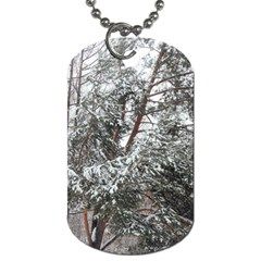 Winter Fall Trees Dog Tag (Two Sides)