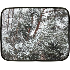 Winter Fall Trees Fleece Blanket (Mini)