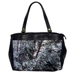 Winter Fall Trees Office Handbags