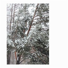 Winter Fall Trees Small Garden Flag (Two Sides)