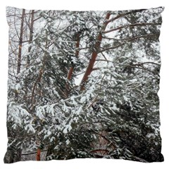 Winter Fall Trees Large Cushion Case (One Side)