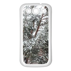 Winter Fall Trees Samsung Galaxy S3 Back Case (White)