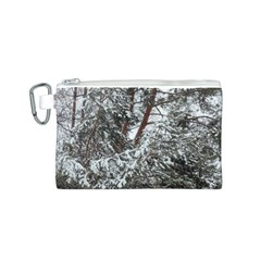 Winter Fall Trees Canvas Cosmetic Bag (S)