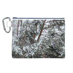 Winter Fall Trees Canvas Cosmetic Bag (L)
