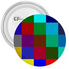 Chessboard Multicolored 3  Buttons
