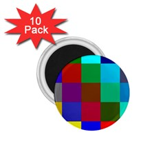 Chessboard Multicolored 1.75  Magnets (10 pack)
