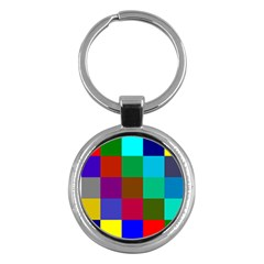 Chessboard Multicolored Key Chains (Round)